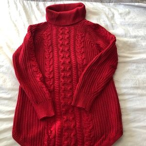 Gap Maternity Cable Knit Turtle Neck Sweater